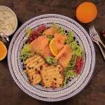 Crostoni di panettone con salmone affumicato